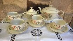 MCP gyönyörű teáskészlet db-ra !  márkás,elegáns finom porcelán