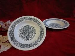 Tányér Angol,  mély fajansz tányérok