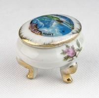 0T881 Régi japán porcelán lábas gyűrűtartó NIAGARA