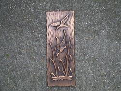 Bronzírozott falikép