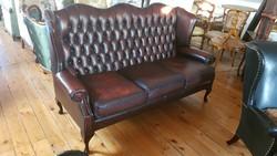 CESTERFILD Queen Anne bőr kanapé eladó