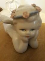 Régi  porcelán  angyalka   20 cm    hibátlan    8000  ft