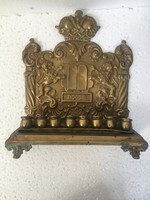 ANTIK JUDAIKA HANUKA 19 század GALICIA