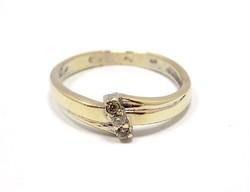 Köves fehér arany gyűrű (ZAL-Au60056)