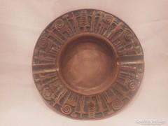 NB jelzéssel fémműves iparművész bronz hamutartó