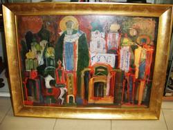 Simon Iván (Szombathely 1931-1999.) Ortodox keresztény témájú modern alkotása
