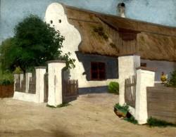 Fényes Adolf (1867-1945): Falusi ház napsütésben (1905-1912 között)
