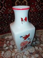 Nagy méretű Hollóházi porcelán virágos váza hibátlan állapotban van