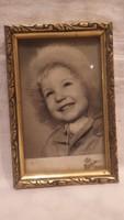 Mosoly Album gyermek fotó arany-fa képkeret