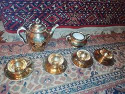 Eladásra kínálok antik nagyon finom porcelán kávés készlet aranyozott