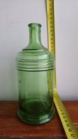 Zöld tintatartó üveg, pedellus üveg