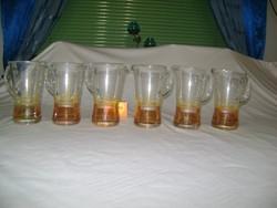 Hat darab kancsó formájú vizes pohár