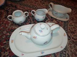 Eladásra kínálok antik porcelán kínáló, teás. Szószos kiöntő és cukor tartó tető nélküli