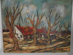 Henry d'Anty festőművész olajfestménye