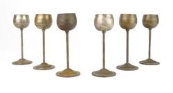 0T926 Régi réz stampedlis pohár készlet