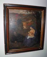 Andreas Patzelt (1896-1980) : Madonna a tájban 1925 NINCS MINIMÁLÁR !