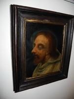 Szerzetes portréja 17 -18.század körül  NINCS MINIMÁLÁR !!!
