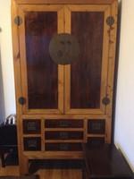 Nagyméretű antik kínai szekrény, távol-keleti, ázsiai, japán