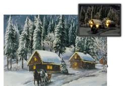 Világító kép téli
