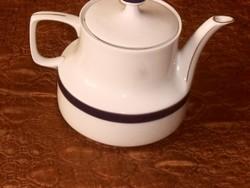 Hollóházi kék csíkos teás kanna