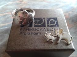 Eredeti SCHMUCKWELTEN ezüst medál és gyűrű