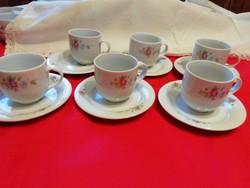Alföldi porcelán kávés készlet 6 db-os