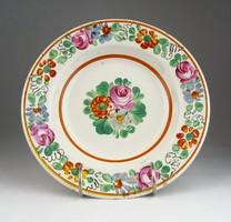 0T894 Antik virágos apátfalvi dísztányér 22 cm