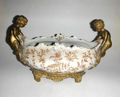 Gyönyörű asztalközép, fém sellőkkel