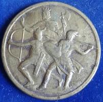 Leventeverseny országos 1943  Berán Lajos tervei alapján mérete:32,5 mm, érem, anyaga:bronz
