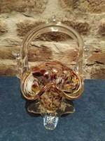 Retró muranó üveg kosár