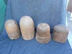 Kalap készítő fa tömbök,sablonok, dekorációnak is.
