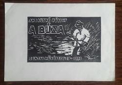 Andruskó Károly 1915-2008  A BÚZA zentai művésztelep-1990 13db linóleummetszet dúc20X12,5,lap30X21cm