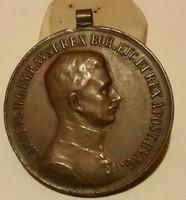 Fortitvdini Vitézségi Emlékérem, anyaga :bronz,  mérete:31,5 mm, szign.Kautsch