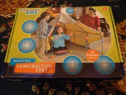 Retro sátor építő játék