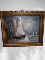BOSZNAY ISTVÁN: eredeti festménye 1922-ből