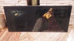 Sziklán imádkozó Jézus , olaj - vászon festmény