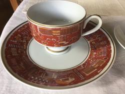 Wallendorf teás csésze, sütis tányér