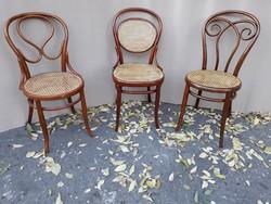 Thonet és J . J . Kohn székek.