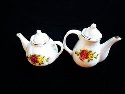 Rózsás babaházi tea és kávé kiöntő