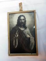 Vintage Jézus kép keretezve