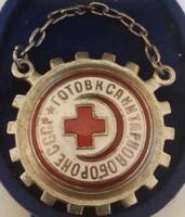 II.világháborús vöröskeresztes jelvény szovjet, mérete :32mm