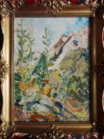 Ave, seven more days! Original frank frigyes painting