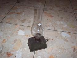 Ritka szögletes petróleum lámpa fellelt állapotban