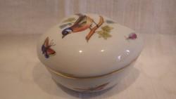 Herendi Rothschild porcelán szív alakú bonbonier