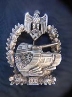 2.világháborús német harckocsizó jelvény.