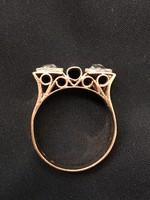 Antik arany gyűrű gyémánt kövekkel