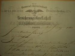 J.S.Friedrich Liedemann Pesth  -  Juray Antal Baja  1861.