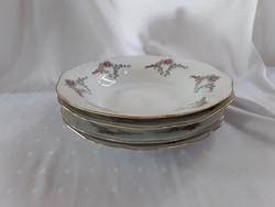Cseh Bohémia rózsás tányérok  /  2069