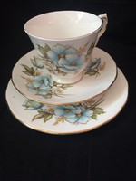 Queen Anne trio kék virággal