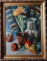 1 nagyon szép 1 napig egy eredeti Vasadi Weigl Hermann (1904-1967) festmény:Csendélet almákkal